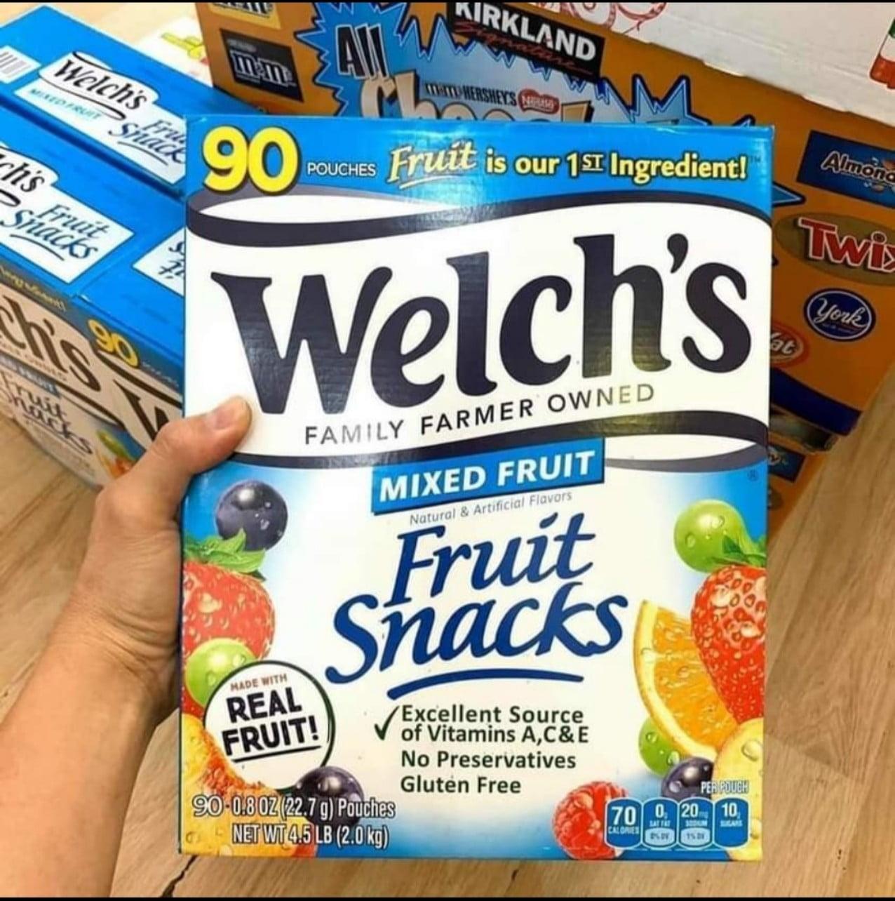 Kẹo dẻo Welch's Mỹ thùng 80 gói- Thực phẩm Hữu Duyên